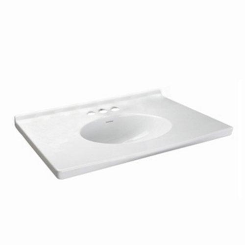 American Standard 7820.800.020 Newbern Vanity Top With Integral Bowl, Fits Most Standard 30 Vanities, Seamless, White, 8-Inch
