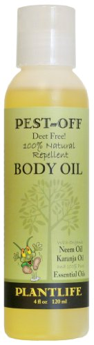 Herbal Insect Body Oil with Neem - 100% Natural Aromatherapy - 4 oz