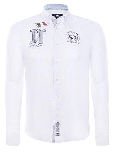 la-martina-chemise-casual-homme-blanc-taille-unique