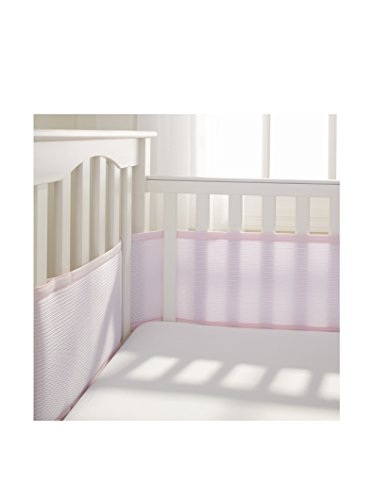 BreathableBaby Deluxe Breathable Mesh Crib Liner, Pink (Breathable Mesh Crib Liner Pink compare prices)