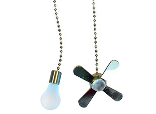Ceiling Fan Pull Chain Set Satin Nickel 701327283472