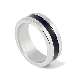 18mm Size PK Finger Ring (Black Stripe) - Magic Trick