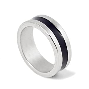 18mm Size PK Finger Ring (Black Stripe) - Magic Trick