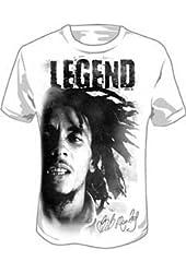 Bob Marley Legend White Jumbo Print T-shirt