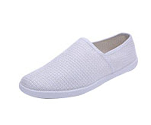 T&Mates Mens Breathable Lightweight Slip-on Low Top Soft Toe Flat Loafers (9 B(M)US,Gray) (State Street Shoes For Men compare prices)