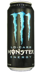 16 Pack - Monster Low Carb Energy Drink - 16 Ounce