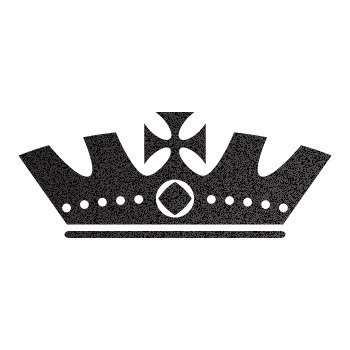Royal Crown Chess Queen King Kingdom ... Black-Metallic (10 X 4.1 inch) ZZ2X7
