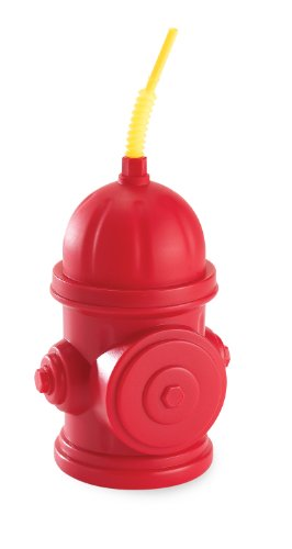 Fireman Fire Truck Party Supplies - Fire Hydrant Sippy Cups with Straws (8)