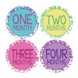 Lollipop Labels Dots Style Monthly Onesie Stickers Baby Photo Prop Newborn Sticker Bodysuit Stickers Colorful Dots Stickers