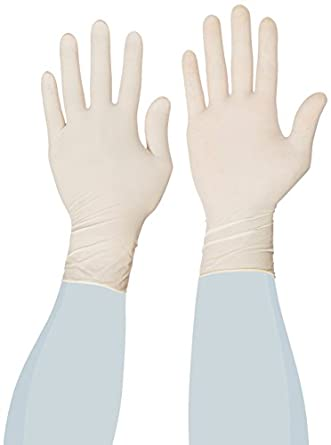 "Microflex PowerGrip Latex Glove, Powdered, 9.6"" Length, 5.9 mils Thick"