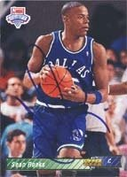 Sean Rooks Dallas Mavericks 1993 Upper Deck Draft Pick Autographed Hand Signed... by Hall of Fame Memorabilia