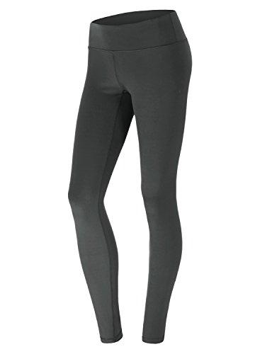 yogareflex abbracciate Sensation Base Mid Rise Yoga Pantaloni CWBLP021_Charcoal_Mi M
