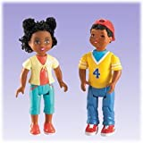 Fisher Price Loving Family Sister and Brother African American Dolls ~ Fisher Price