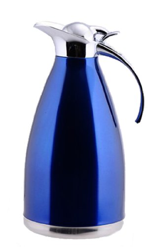 Wantdo Stainless Steel Double Vacuum Insulation Kettle(Blue,1.5L)