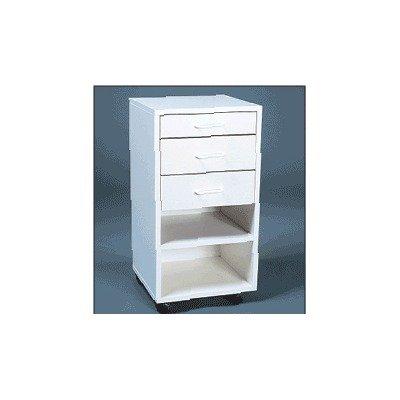 Modular Cabinet in White Drawers: 1 standard, 2 deep drawers