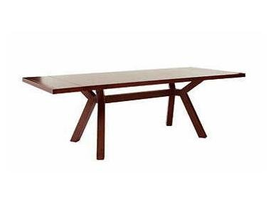 Java Sitcom Stockton Collection Contemporary Casual Dining Table with Trestle Base