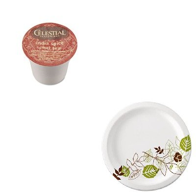 Kitdxeux9Wspkgmt14738 - Value Kit - Celestial Seasonings India Spice Chai Tea K-Cups (Gmt14738) And Dixie Pathways Mediumweight Paper Plates (Dxeux9Wspk)