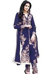 StarMart Beautiful Arjan Georgette Salwar Kameez Semi Stitched Suit -308 BLUE