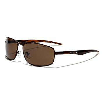 X-Loop Lunettes de Soleil Aviator - Ville - Mode - Fashion - Clubbing - Conduite - Moto - Plage / Mod. 4270 Cuivre Marron Moucheté / Taille Unique Adulte / Protection 100% UV400
