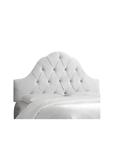 Skyline Furniture Arch Tufted Queen Headboard, Velvet White