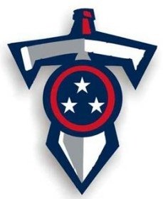 Tennessee Titans 12'' Sword Car Magnet