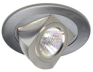 4 Inch Recessed Can 12V Mr16 Light Adjustable Aim Pull Down Elbow Trim Steel Silver Satin Nickel