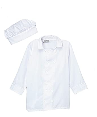 Kids White Chef Jacket & Hat (Choose Size)