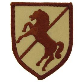 US Army Military Armed Forces Iron On Patch - Air & Armored Cavalry - 11th ACR Armored Cavalry Regiment Applique