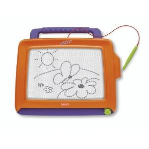 Toy / Game Fisher-Price Doodle Pro Classic Orange w/ New Entry-Level Large Screen Magnetic Drawing Toy For Kids
