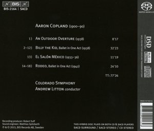 Copland:Billy The Kid/Rodeo [Colorado Symphony, Andrew Litton] [BIS: BIS2164] by BIS