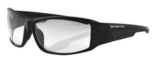 Bobster Rattler Photochromic Sunglasses,Black Frame/Smoke Lens,One Size