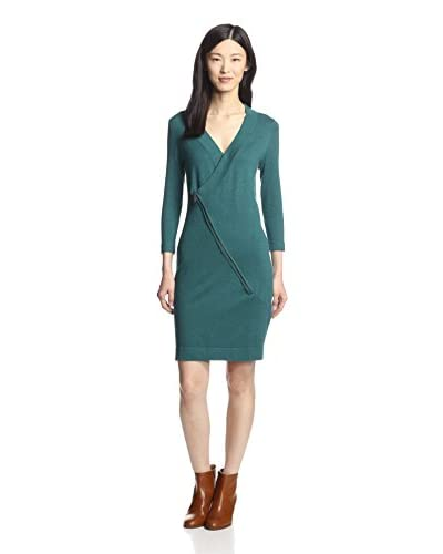 Cashmere Addiction Women's Sweater Dress with Zipper