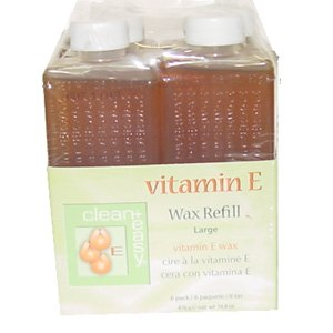 Clean & Easy Wax Refill 6-pack Large Vitamin E