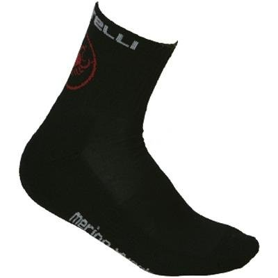 Buy Low Price Castelli 2012/13 Merino Cycling Sock – Black – R7586-010 (B001FQ48ME)