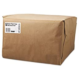 General 1/6 52# Paper Bag, 52lb Kraft, Brown, 12 x 7 x 17, 500/Bundle
