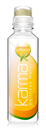 Karma Wellness Water Vitality Healthy Hydration, Pineapple Coconut, 18 Ounce (Pack of 12)