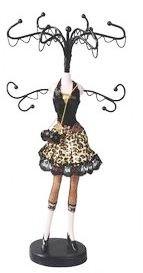 Leopard Skirt Mannequin Jewelry Organizer