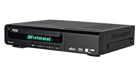 Xoro HRS 9500 IP Twin Récepteur satellite numérique DVB-S2 HDTV / Double Tuner / HDMI / CI+ Slot / HD+ lecteur de carte intégré / HD+ carte à puce inclus / Péritel / 2 x USB 2.0 / PVR fonction d'enregistrement TV)