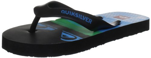 Quiksilver Little Repeater Black/Blue/Green Flip and Thong Sandal KRBSL103-BUES 13 UK Junior, 32 EU