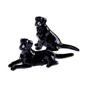 At home in the country - Black Labrador Salt and Pepper Set by At home in the country