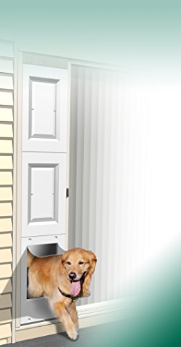 Wedgit Portable Pet Portal Pet Door Panel with Removable Raised Panel Inserts for Sliding Glass Patio Doors with Security Bar (Sliding Glass Pet Door Insert compare prices)