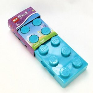 Lego Friends Brick Pencil Case - Turquoise Blue - 1