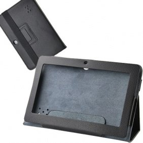 Onebook Black Tablet PC Leather Case Protector for A13 Q88