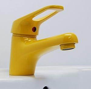 Waschtischarmatur gelb (RAL 1004) Einhebelmischer  BaumarktKundenbewertung: