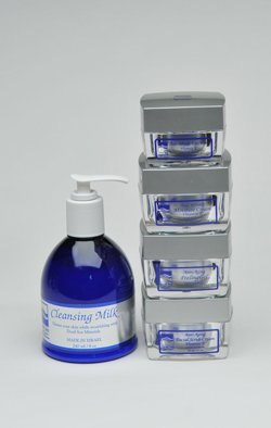 Dead Sea Products: Complete Facial Set (Eye Cream, Moisture Cream, Facial Scrub Cream, Peeling Gel, Cleansing Milk)