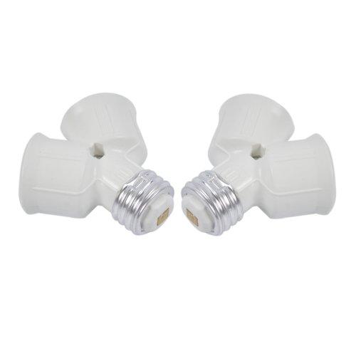 LOT2 E27 à E27 2x LED CFL ampoule lampe
