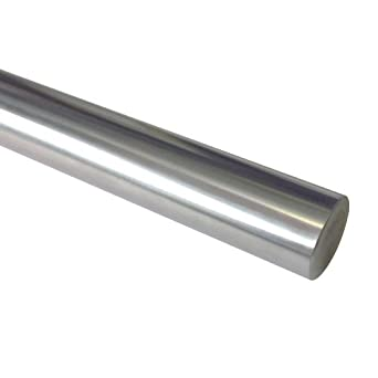 "WJB WRBZ 1/2 48 L Linear Shaft, Stainless Steel, Inch, 1/2"" Diameter, 0.4995"" Diameter Tolerance, 48"" Length"