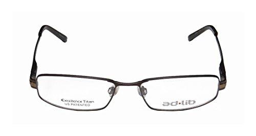 [Ad.lib 3127 Mens/Womens Cat Eye Full-rim Titanium Eyeglasses/Eyeglass Frame (54-16-145, Brown)] (Full Plastic Iron Man Costume For Sale)