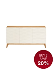 Milton 3 Drawer Sideboard