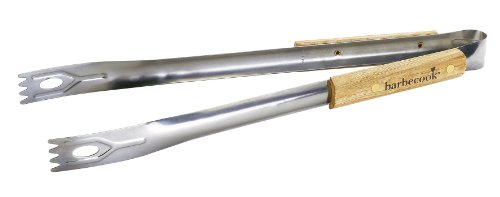 Barbecook 2230207000 Tongs Stainless Steel with Wooden Handle